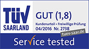 TüV Saarland - Gut 1,8 - Service Tested